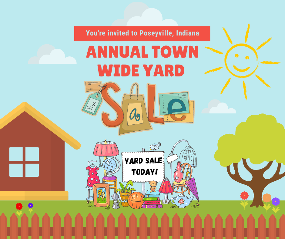 Annual Town Yard Sale Poseyville, Indiana
